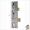 ERA Surelock with Thin Dead bolt Dimensions Fr of Latch Compl
