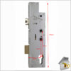 Fullex Crimebeater Twin Spindle Deadbolt FR of Latch 55 Dimen Compl