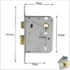 ERA 3 Lever Sash Lock 76mm with sizes