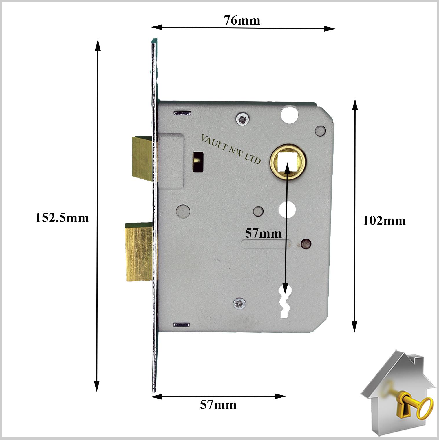 3 Lever Era Sash Lock Fortress Mortice British Standard Door Mortise Diagram 76mm