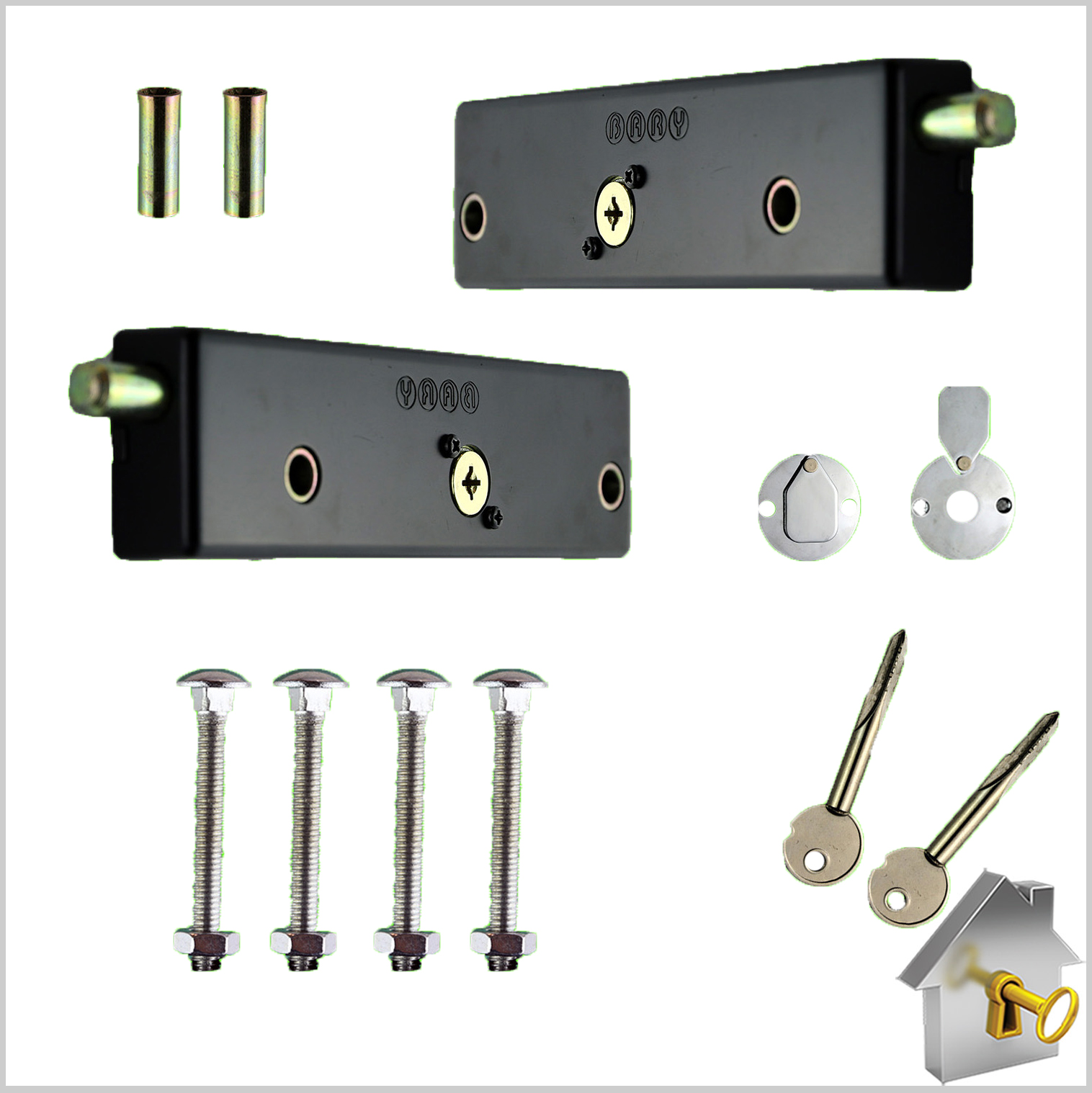 Garage Door Bolt Locks Heavy Duty Pair Garage