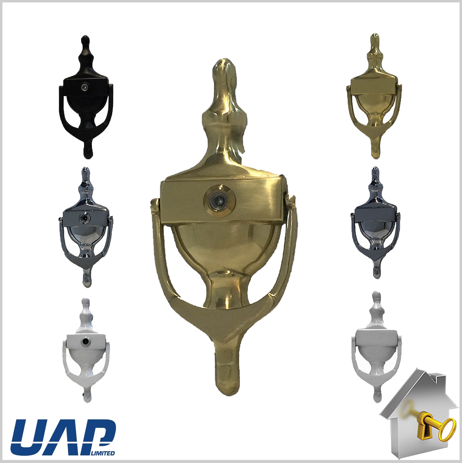 Uap Door Knocker Victorian Urn Style For Upvc Timber Doors Various Finishes 6 Vault Nw