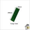 Glass Packer 1mm Green