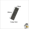 Glass Packer 4mm Grey