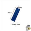 Glass Packer 5mm Blue