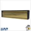 Letterplate All Alumin PVD Gold