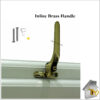 Window Handle Inline Brass
