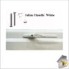 Window Handle Inline White Closed