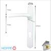 Hoppe Door Handle White Lever Ext