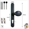 Vita Door Handle Black pad Sizes