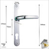 Vita Door Handle Chrome Lever Sizes