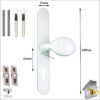 Vita Door Handle White pad Sizes